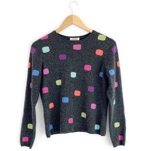Talbots Cashmere Gumdrop Sweater Medium P
